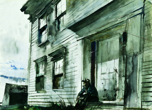 Alvaro on Front Doorstep, Andrew Wyeth at 100