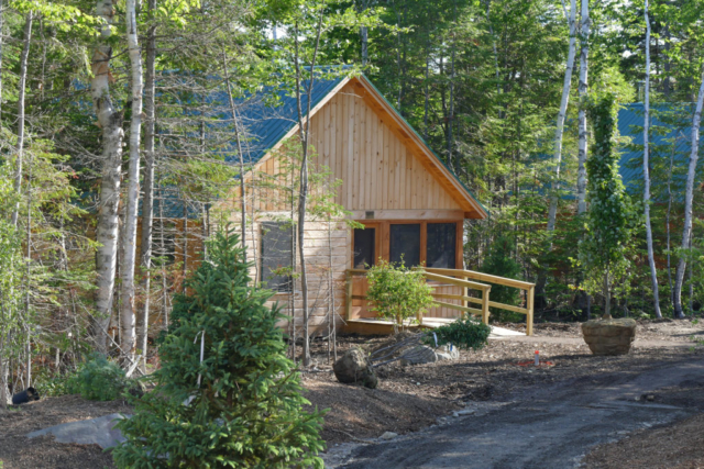 The exterior of the newly rebuilt Meawisla Lodge.