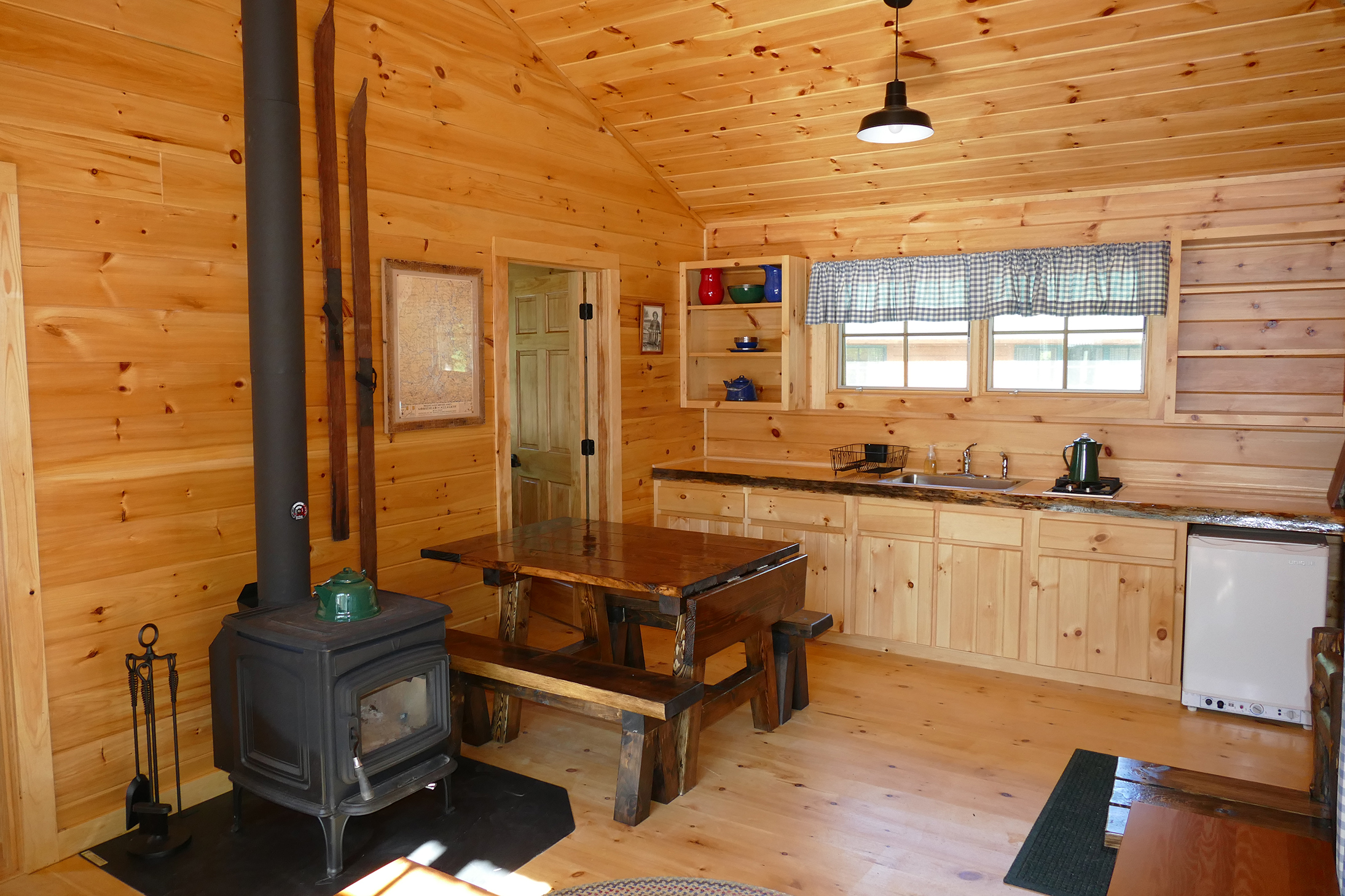 Inside the cabins at Medawisla.